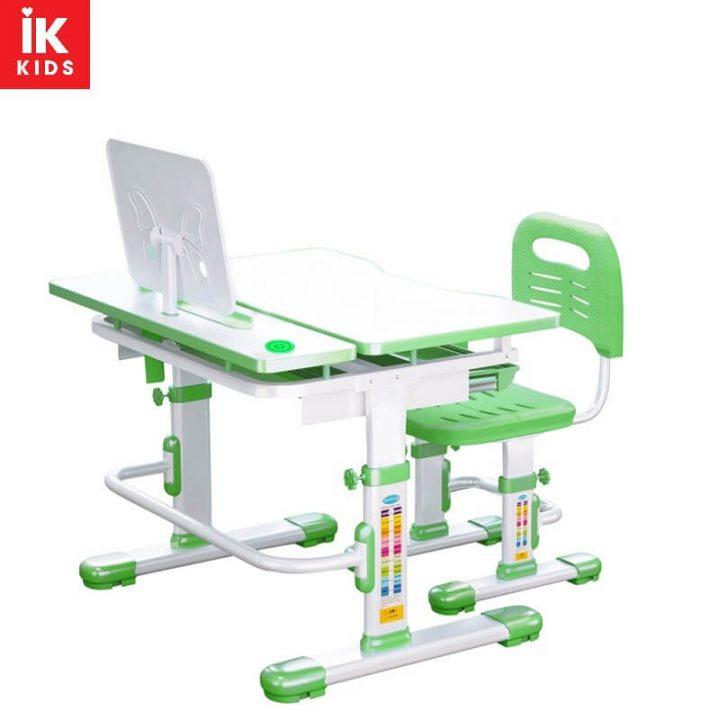 bàn ghế học thông minh D4 màu xanh lá