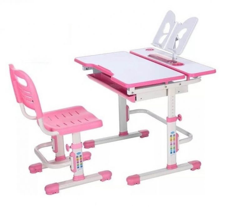 bàn ghế học thông minh D4 hồng