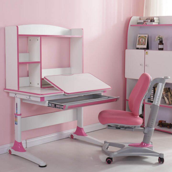 bộ bàn ghế học tập cho bé màu hồng