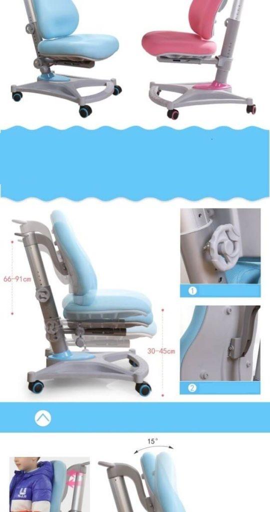 ghế chống gù điều chỉnh độ cao