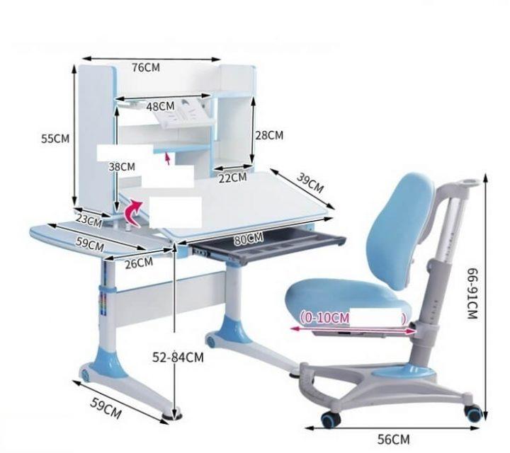 kích thước bàn ghế chống gù