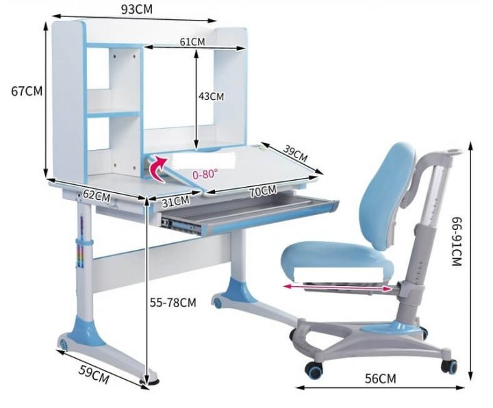 kích thước bàn ghế học sinh thông minh