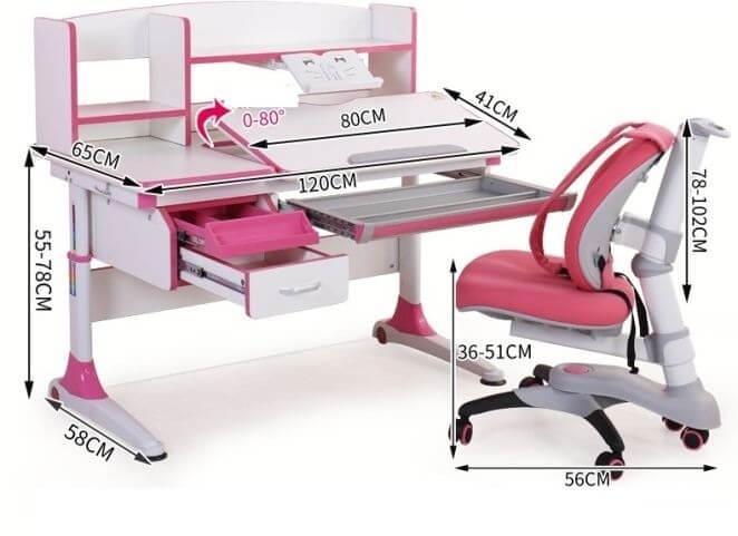 kích thước bàn ghế học chống gù chống cận