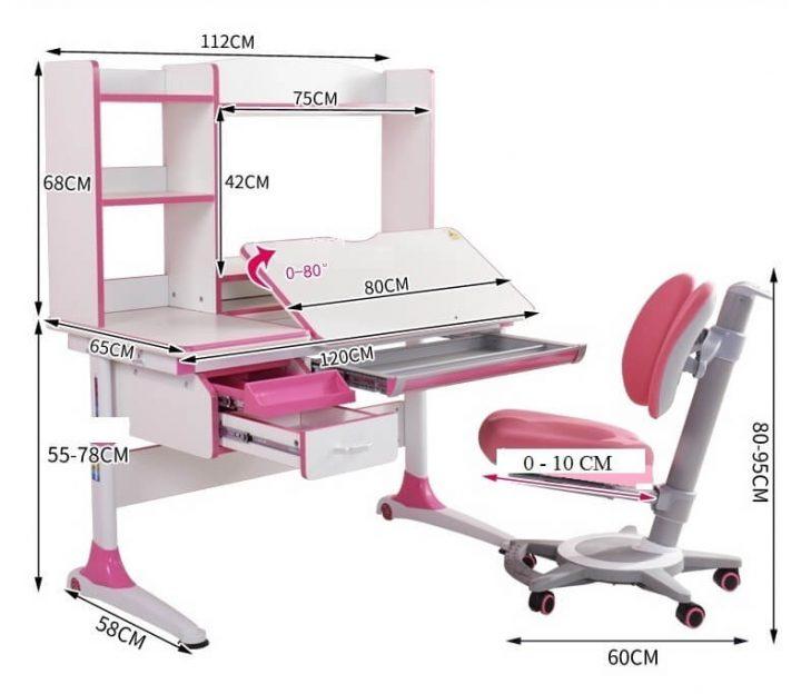 kích thước bàn ghế chống gù lưng cận thị