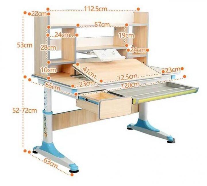 kích thước bàn học sinh cho bé bằng gỗ
