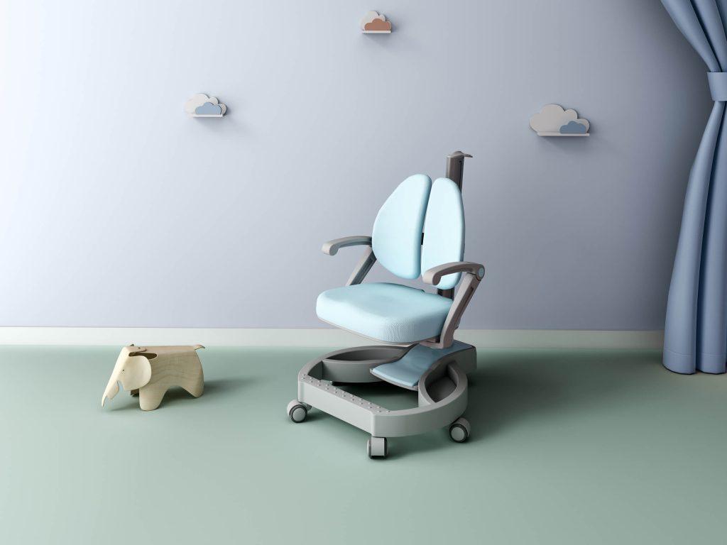 ghế chống gù lưng cho bé trai màu xanh pastel lex w2s nhập khẩu