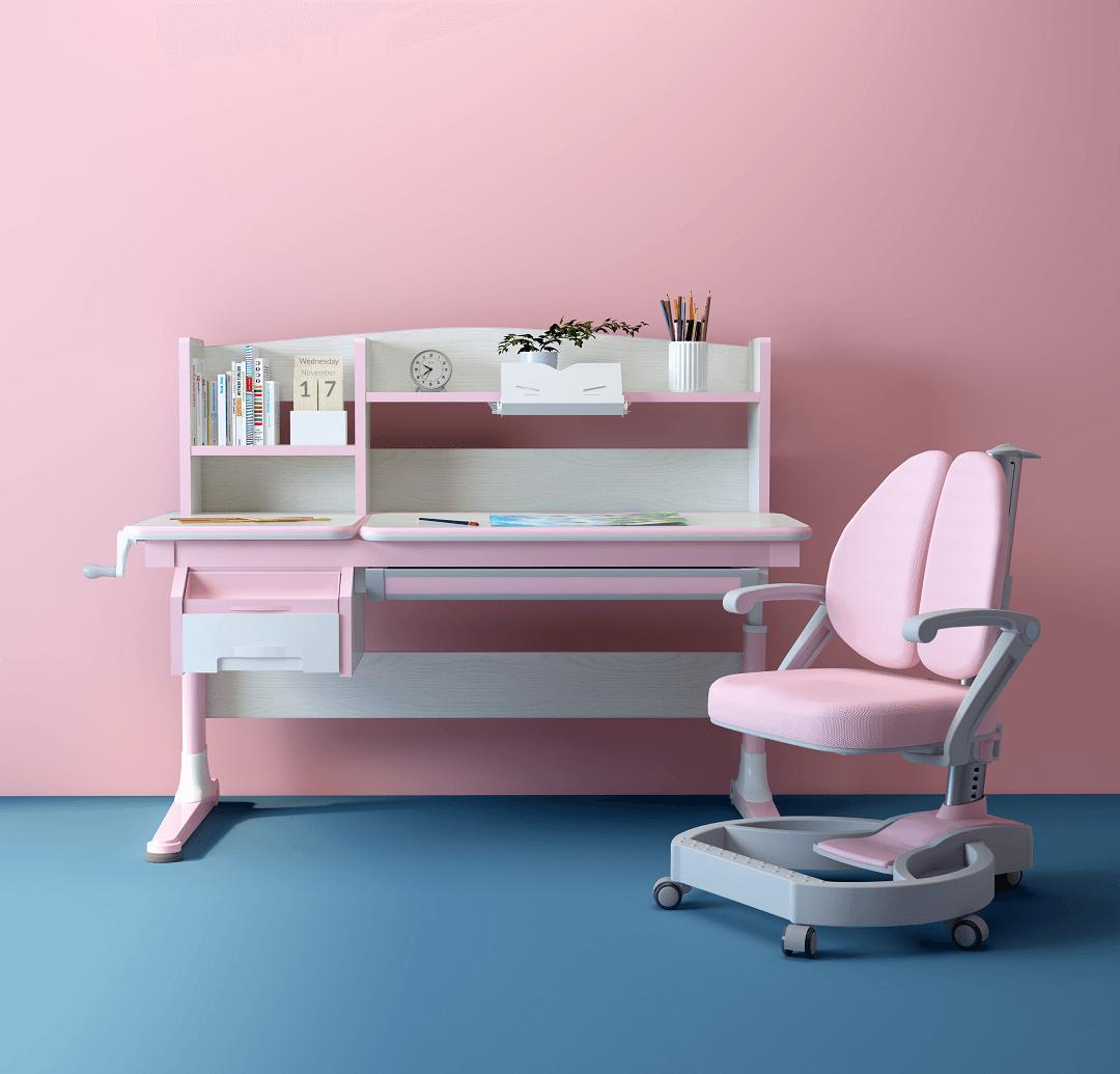 ghế học sinh nâng hạ chiều cao chống gù lưng lex 602u/w2s màu hồng